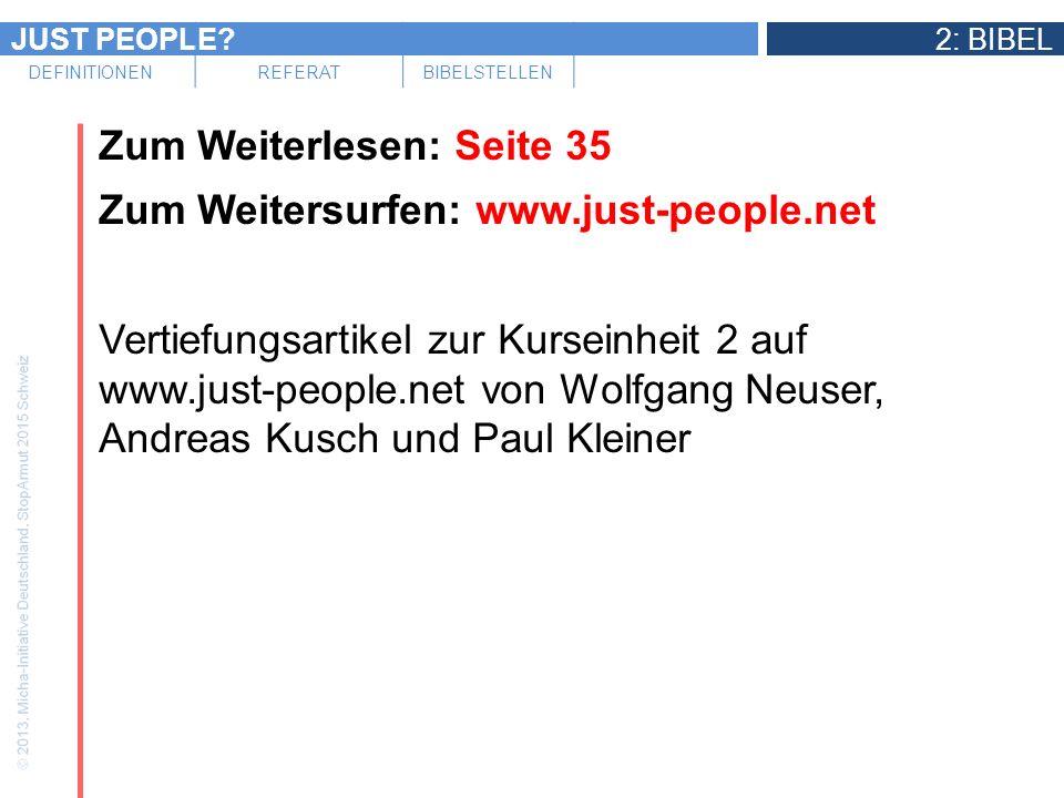Zum Weiterlesen: Seite 35 Zum Weitersurfen: www. just-people