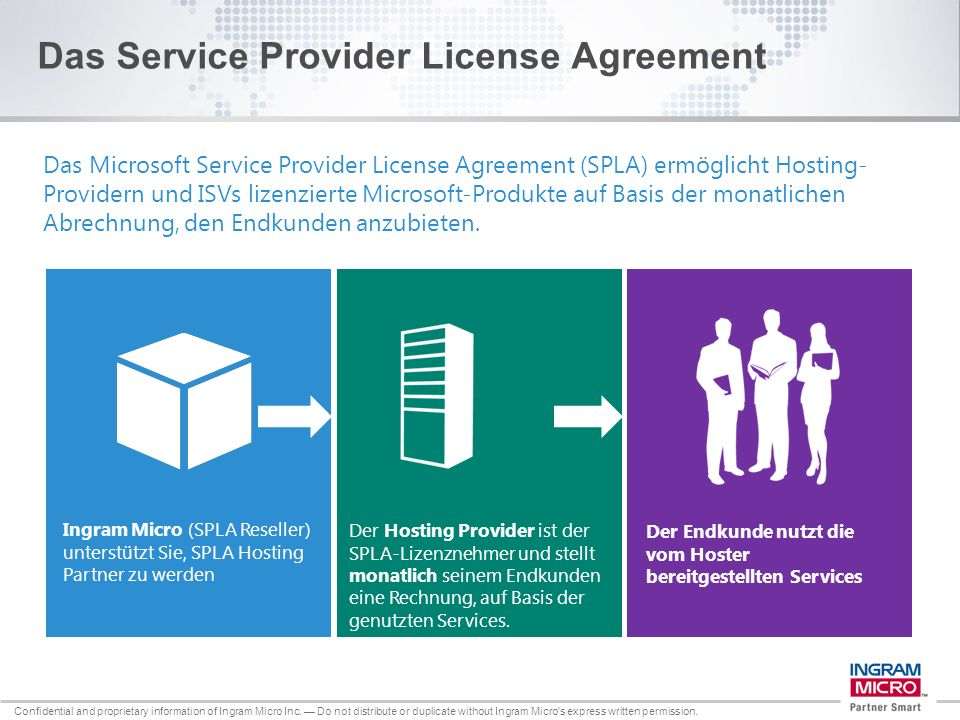 Das Service Provider License Agreement
