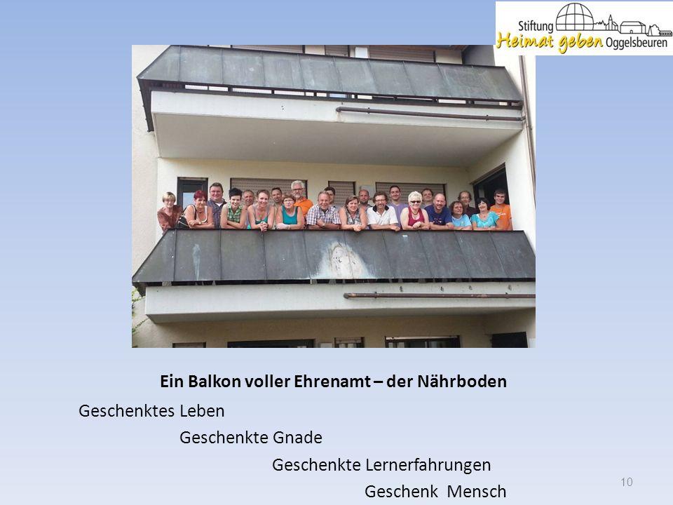 Ein Balkon voller Ehrenamt – der Nährboden