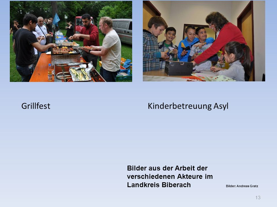 Grillfest Kinderbetreuung Asyl