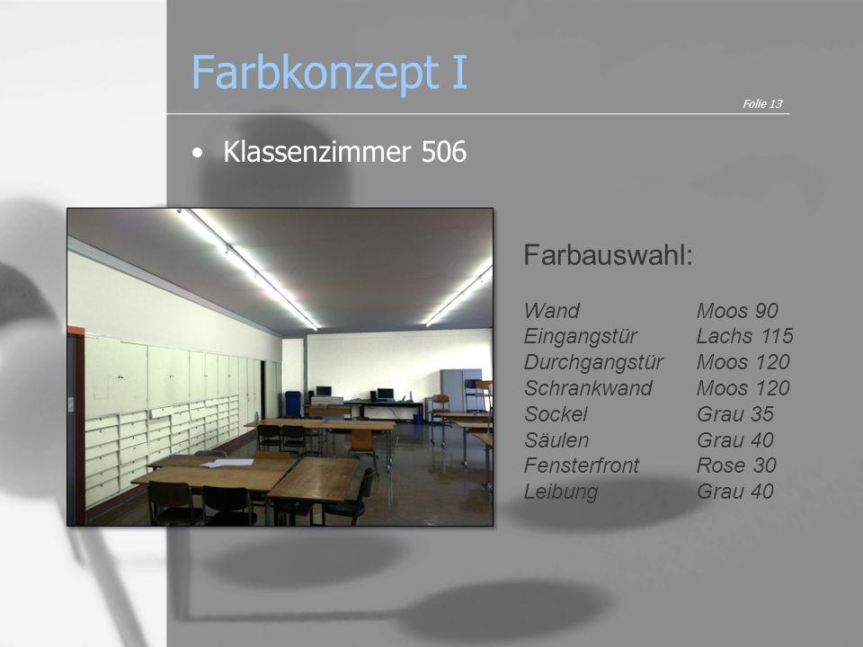 Farbkonzept I Klassenzimmer 506