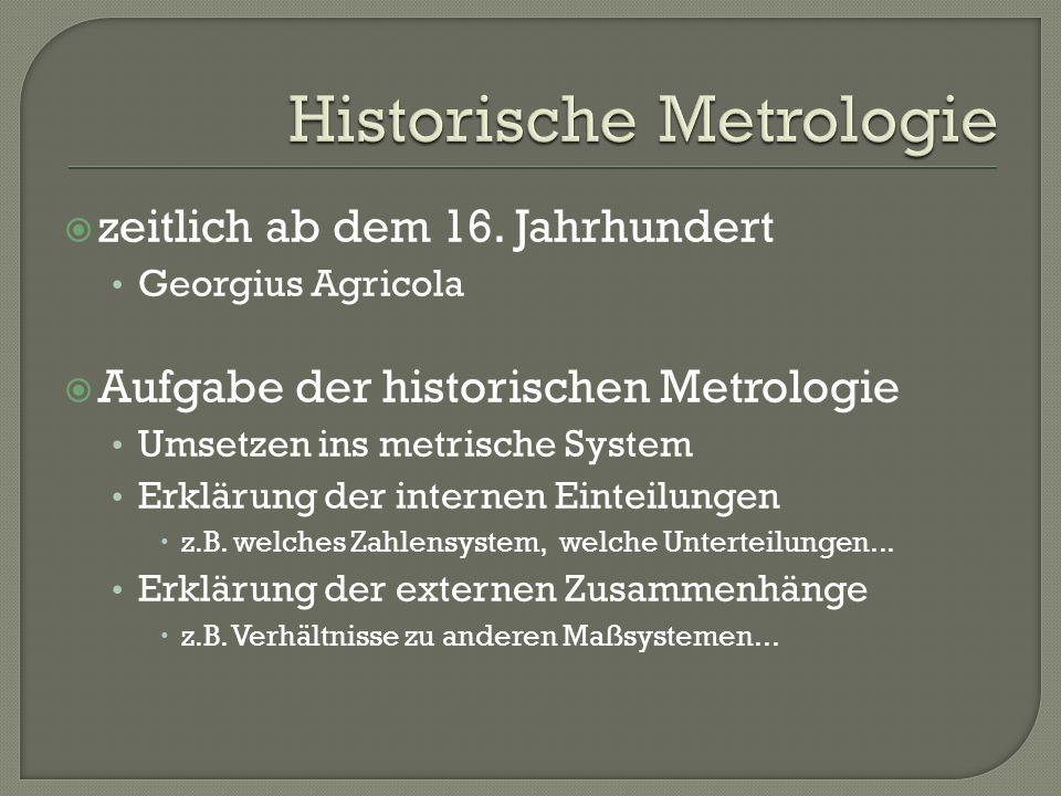 Historische Metrologie