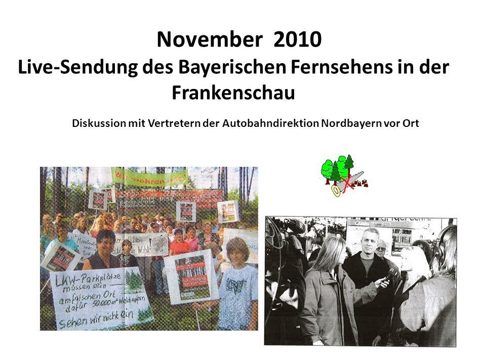 Live-Sendung des Bayerischen Fernsehens in der Frankenschau