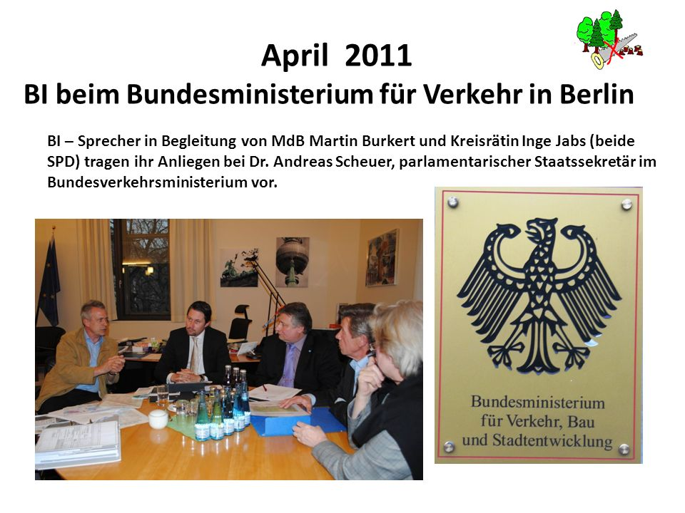 BI beim Bundesministerium für Verkehr in Berlin