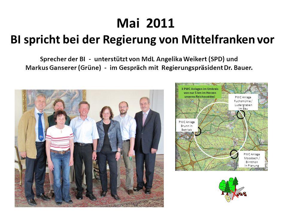 Mai 2011 BI spricht bei der Regierung von Mittelfranken vor