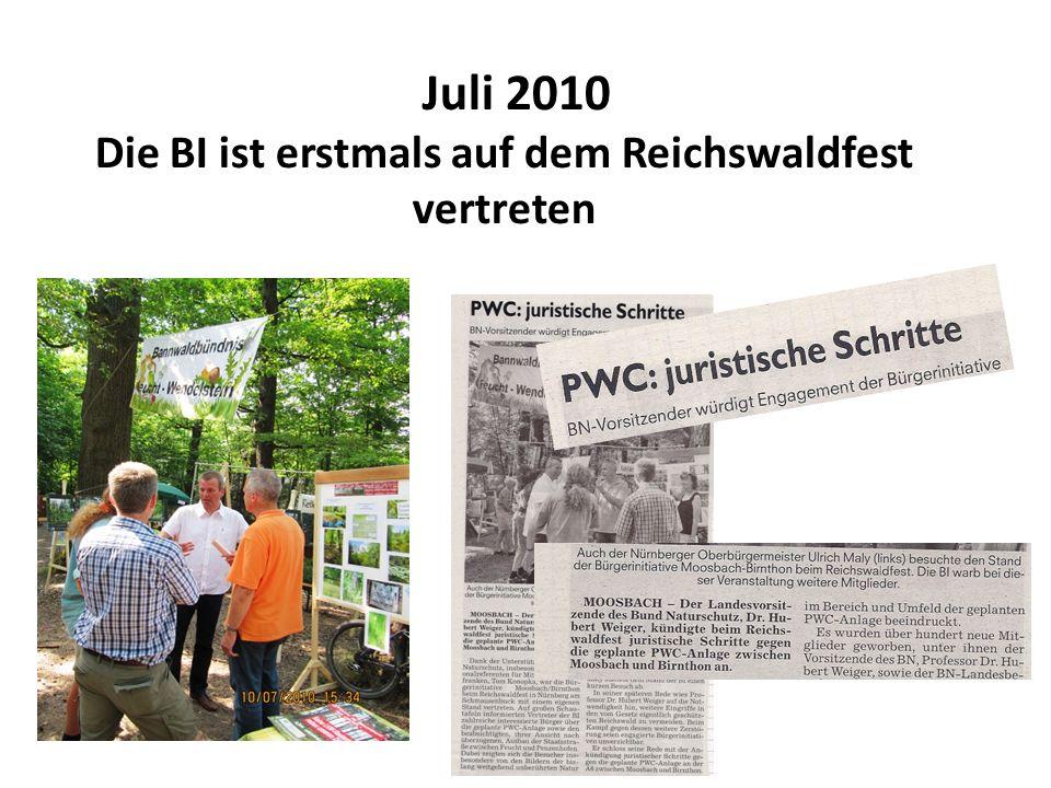 Die BI ist erstmals auf dem Reichswaldfest vertreten