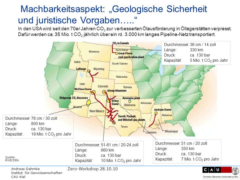 """Machbarkeitsaspekt: """"Geologische Sicherheit und juristische Vorgaben…"""
