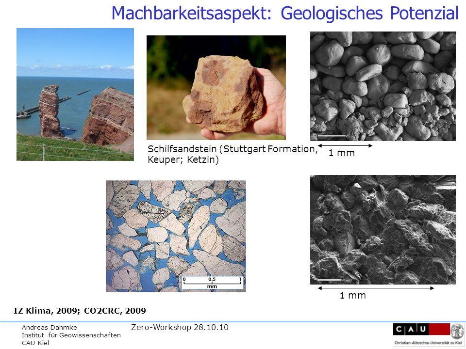 Machbarkeitsaspekt: Geologisches Potenzial