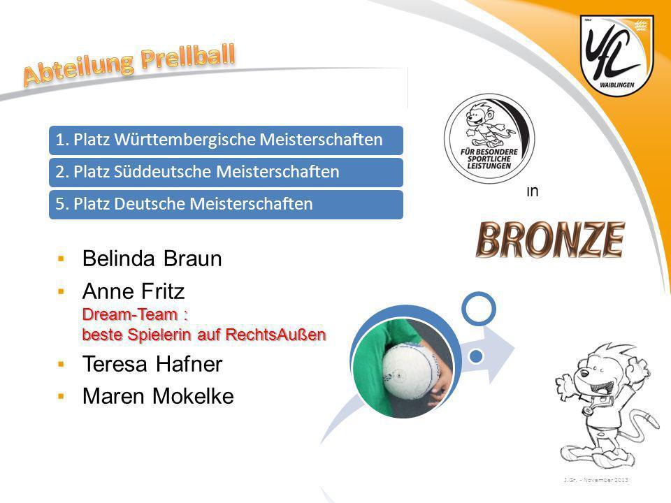 Abteilung Prellball Belinda Braun