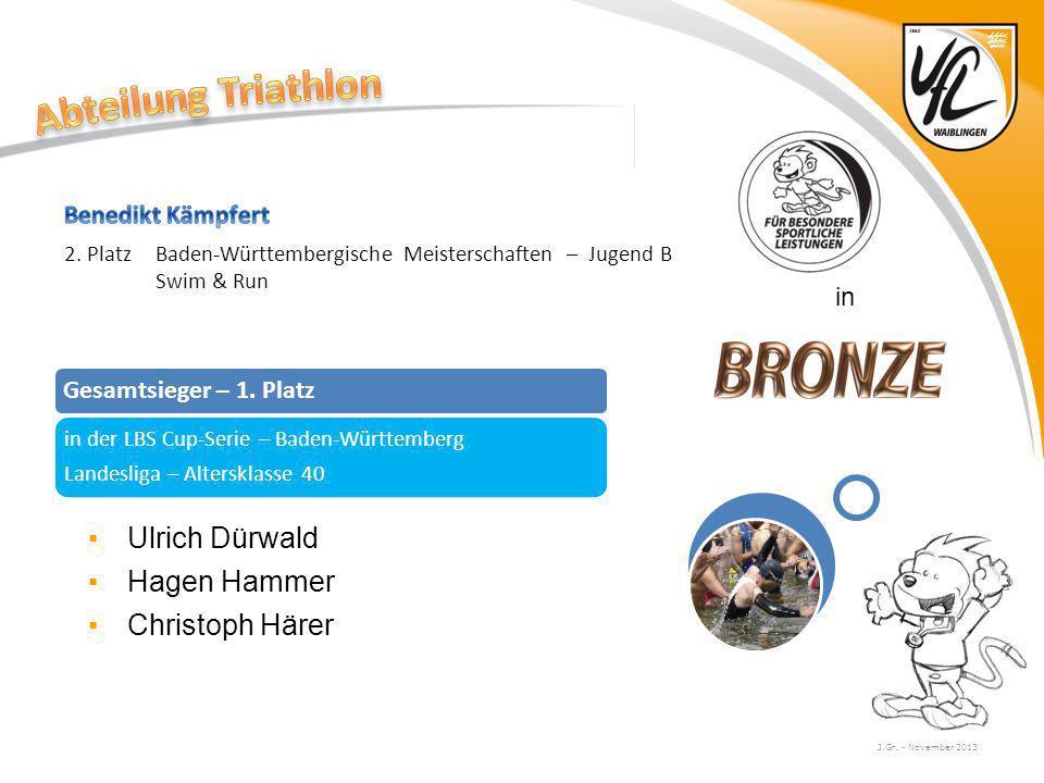 Abteilung Triathlon Ulrich Dürwald Hagen Hammer Christoph Härer