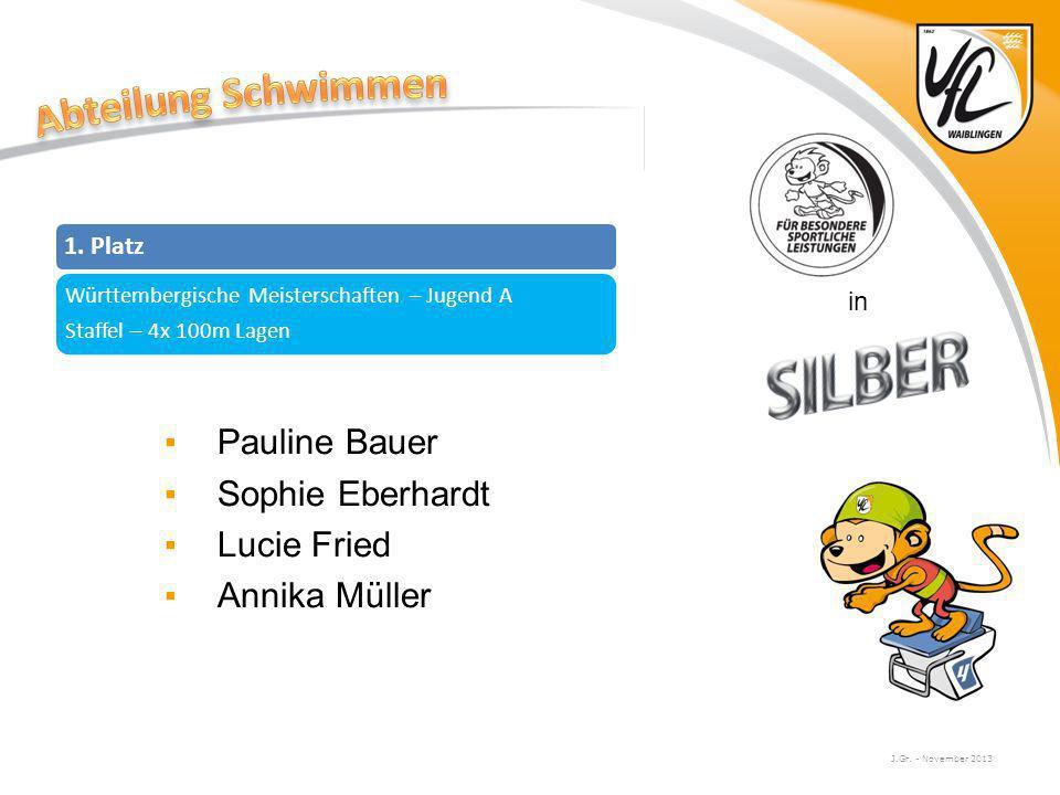 Abteilung Schwimmen Pauline Bauer Sophie Eberhardt Lucie Fried