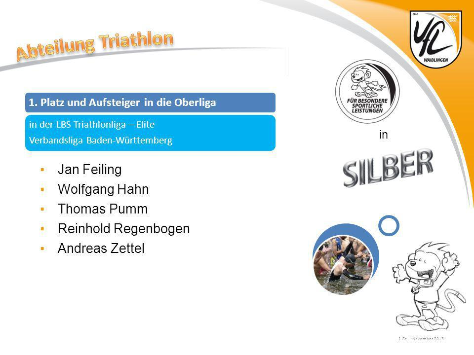 Abteilung Triathlon Jan Feiling Wolfgang Hahn Thomas Pumm