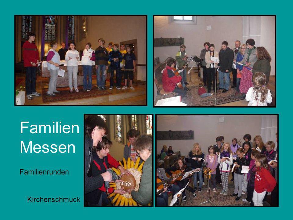 Familien Messen Familienrunden Kirchenschmuck