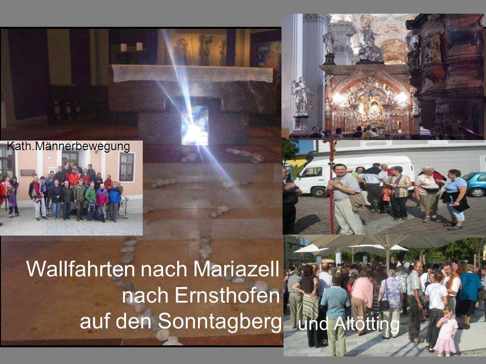 Wallfahrten nach Mariazell nach Ernsthofen auf den Sonntagberg