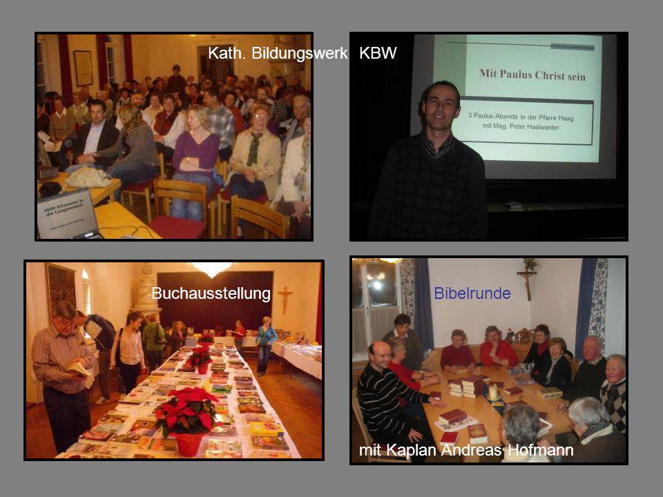 Kath. Bildungswerk KBW Buchausstellung Bibelrunde mit Kaplan Andreas Hofmann