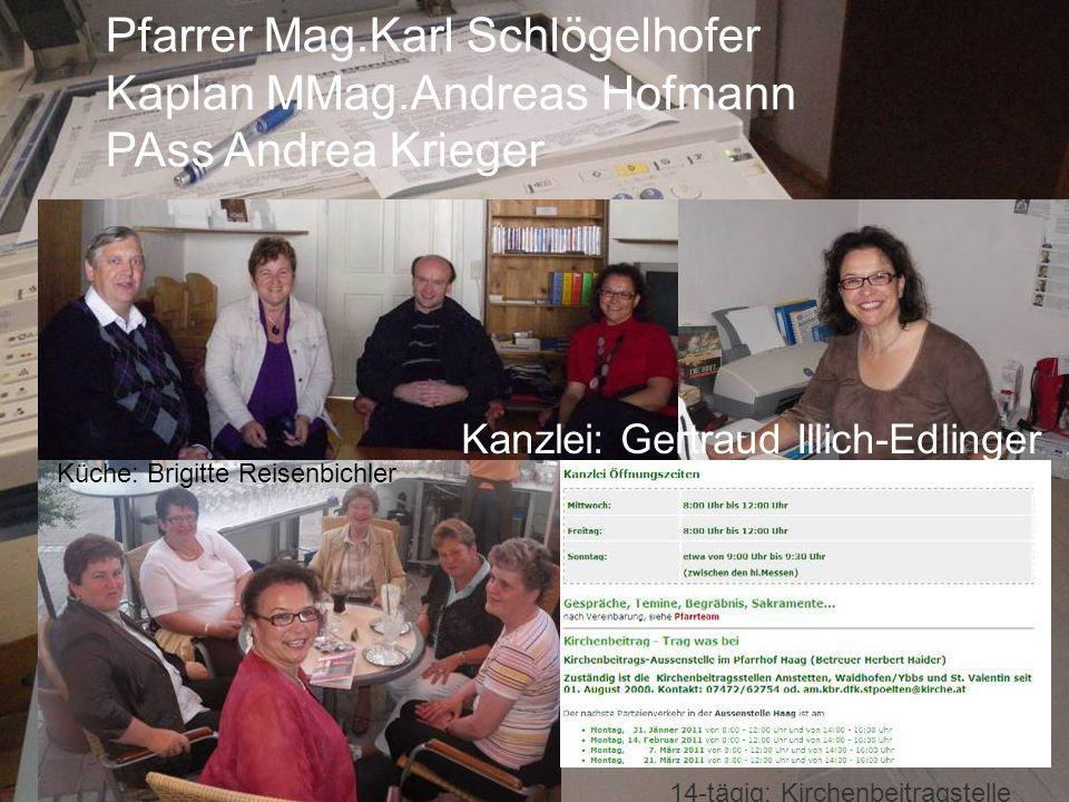 Pfarrer Mag.Karl Schlögelhofer Kaplan MMag.Andreas Hofmann