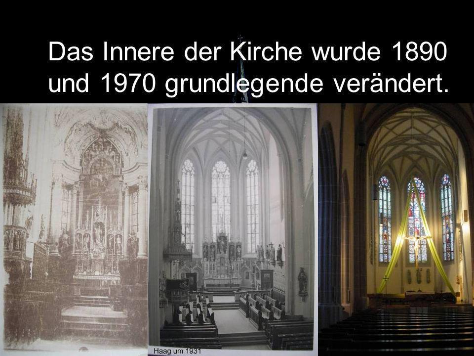 Das Innere der Kirche wurde 1890