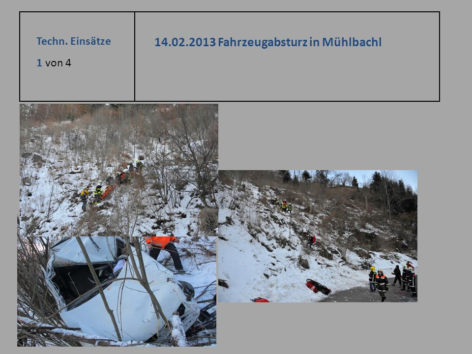 14.02.2013 Fahrzeugabsturz in Mühlbachl