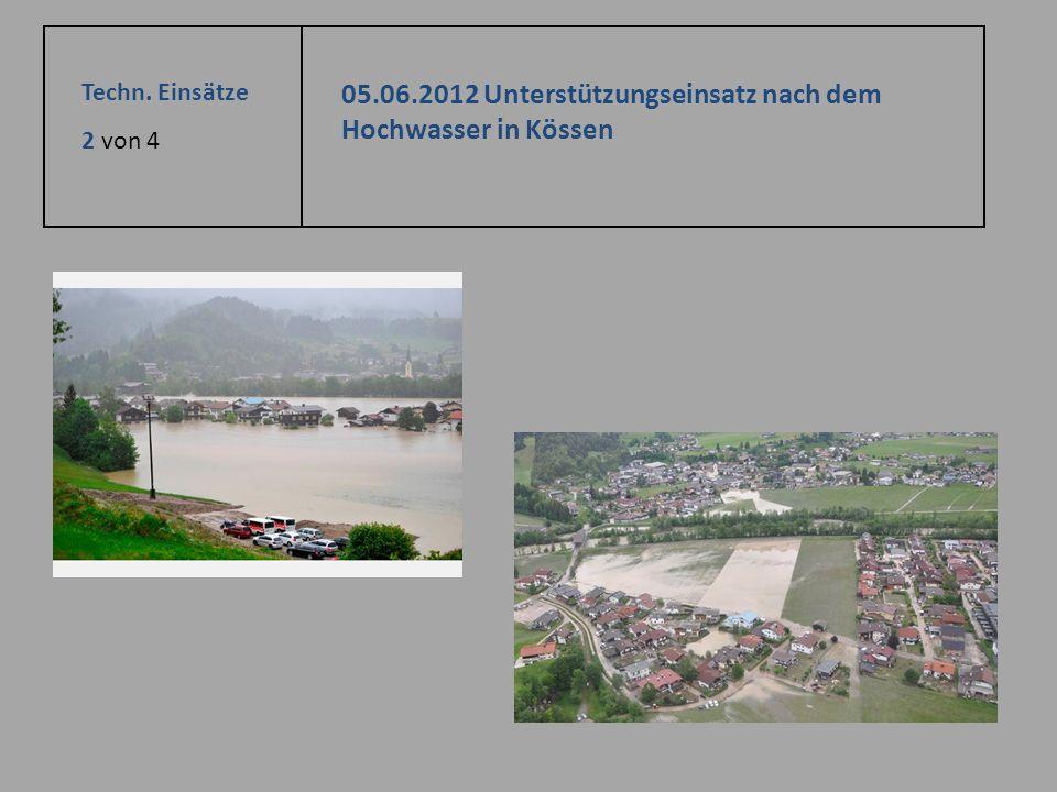 05.06.2012 Unterstützungseinsatz nach dem Hochwasser in Kössen
