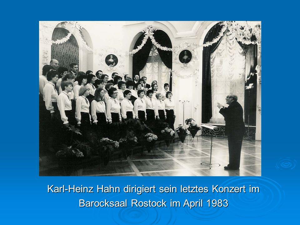 Karl-Heinz Hahn dirigiert sein letztes Konzert im