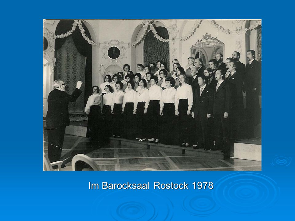 Im Barocksaal Rostock 1978