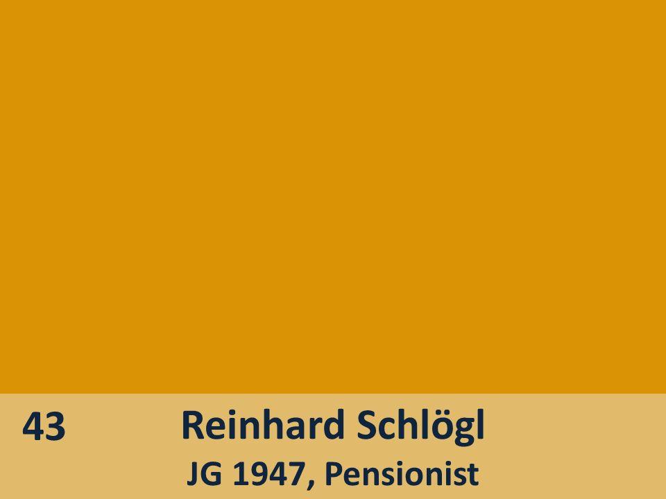 43 Reinhard Schlögl JG 1947, Pensionist