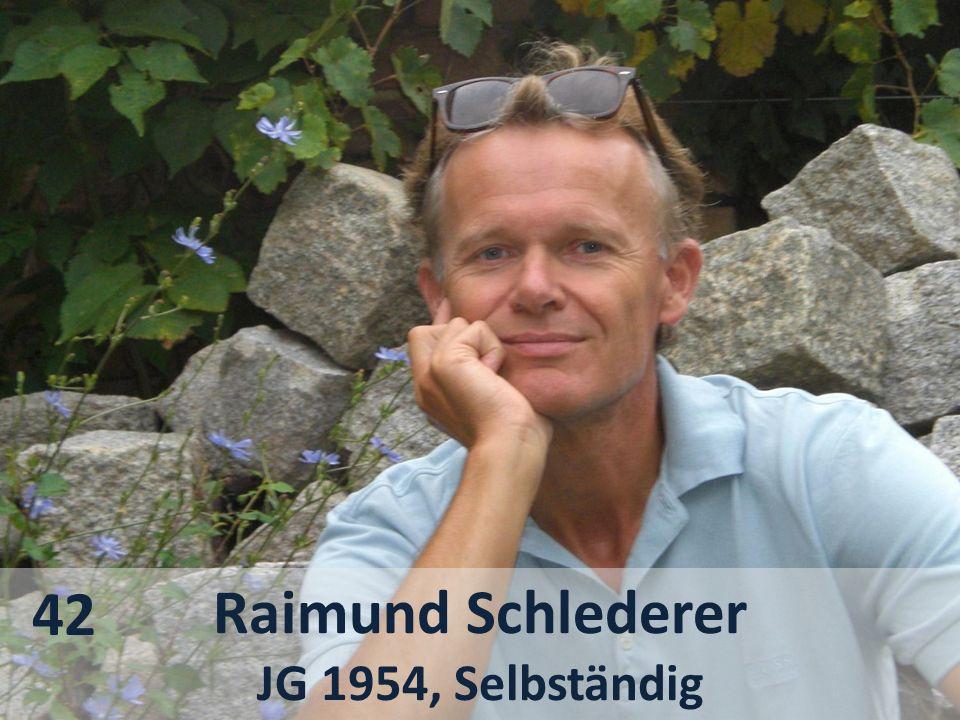 42 Raimund Schlederer JG 1954, Selbständig