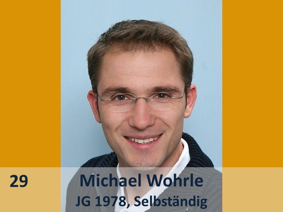 29 Michael Wohrle JG 1978, Selbständig