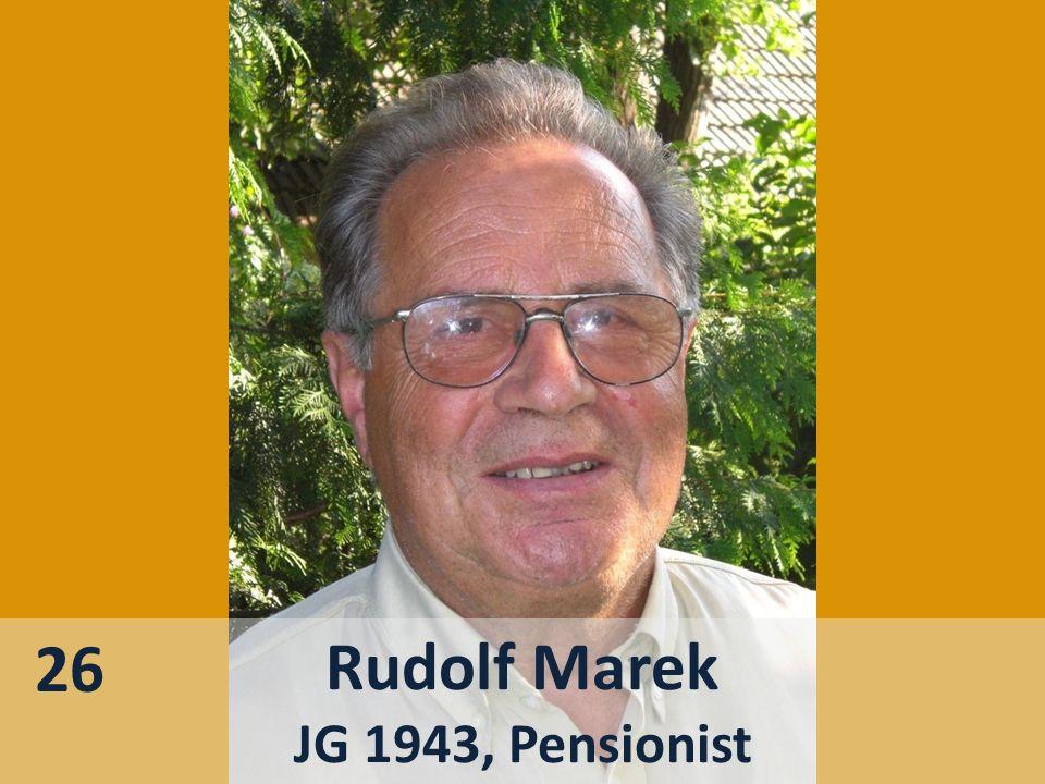 26 Rudolf Marek JG 1943, Pensionist