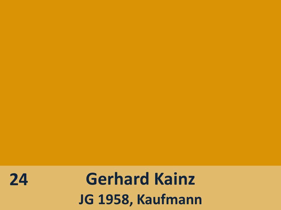24 Gerhard Kainz JG 1958, Kaufmann