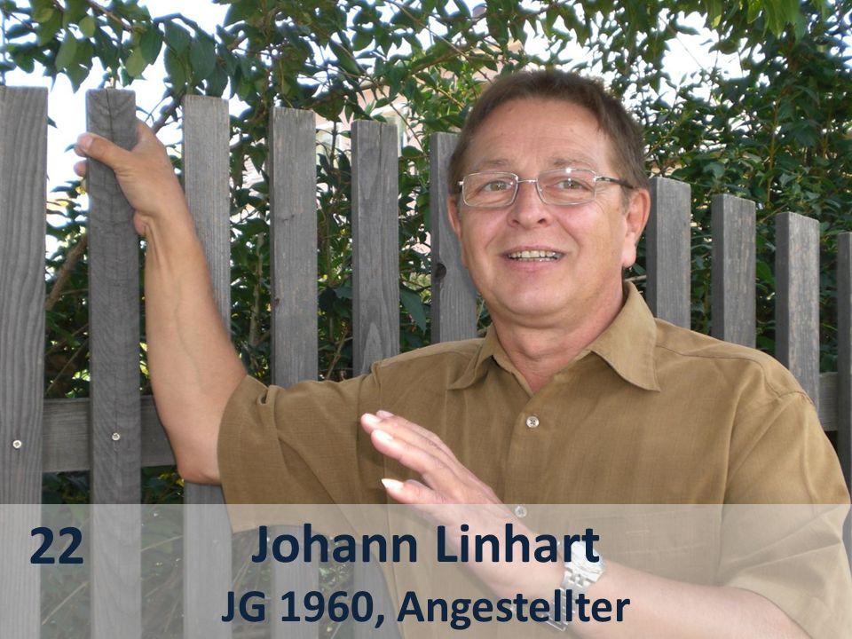 22 Johann Linhart JG 1960, Angestellter
