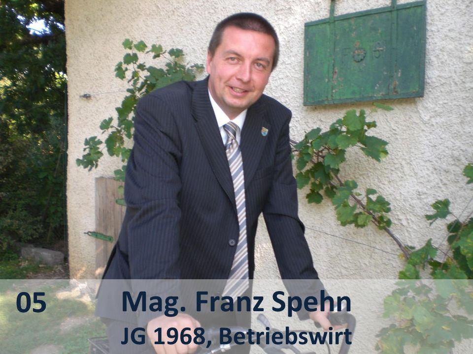 05 Mag. Franz Spehn JG 1968, Betriebswirt