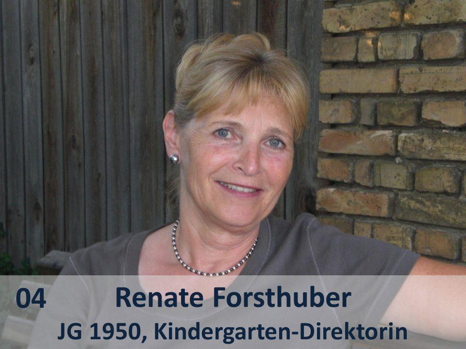 JG 1950, Kindergarten-Direktorin