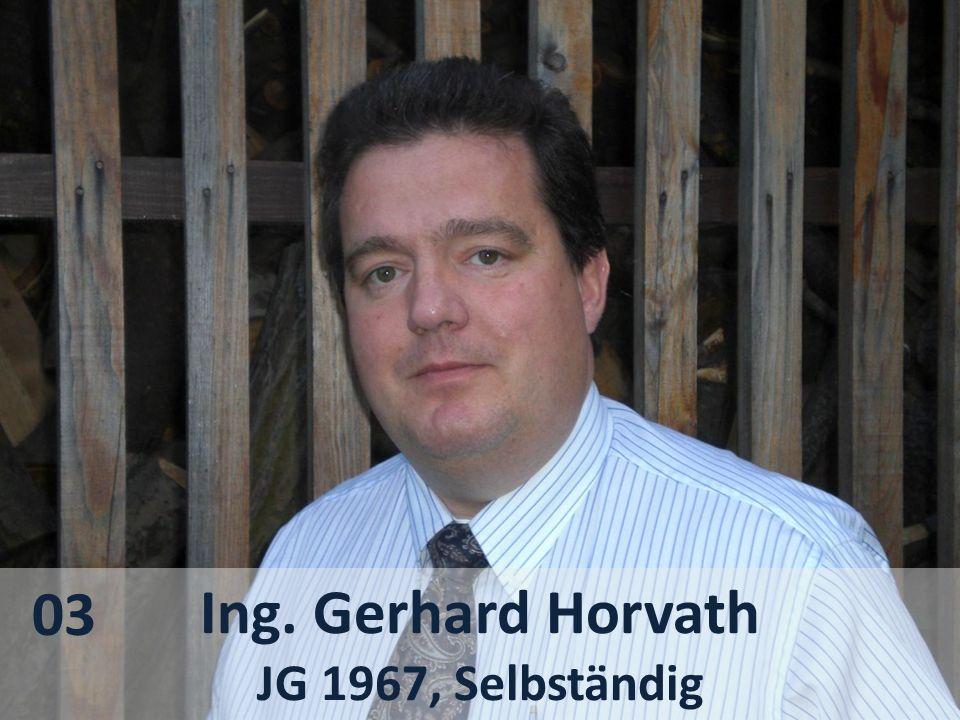 03 Ing. Gerhard Horvath JG 1967, Selbständig