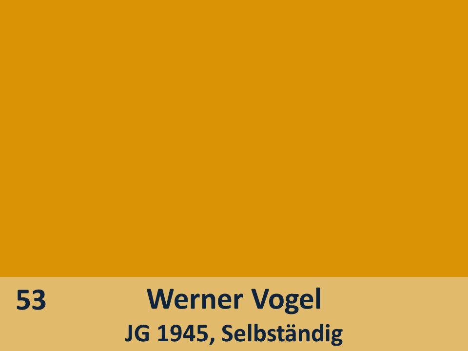 53 Werner Vogel JG 1945, Selbständig