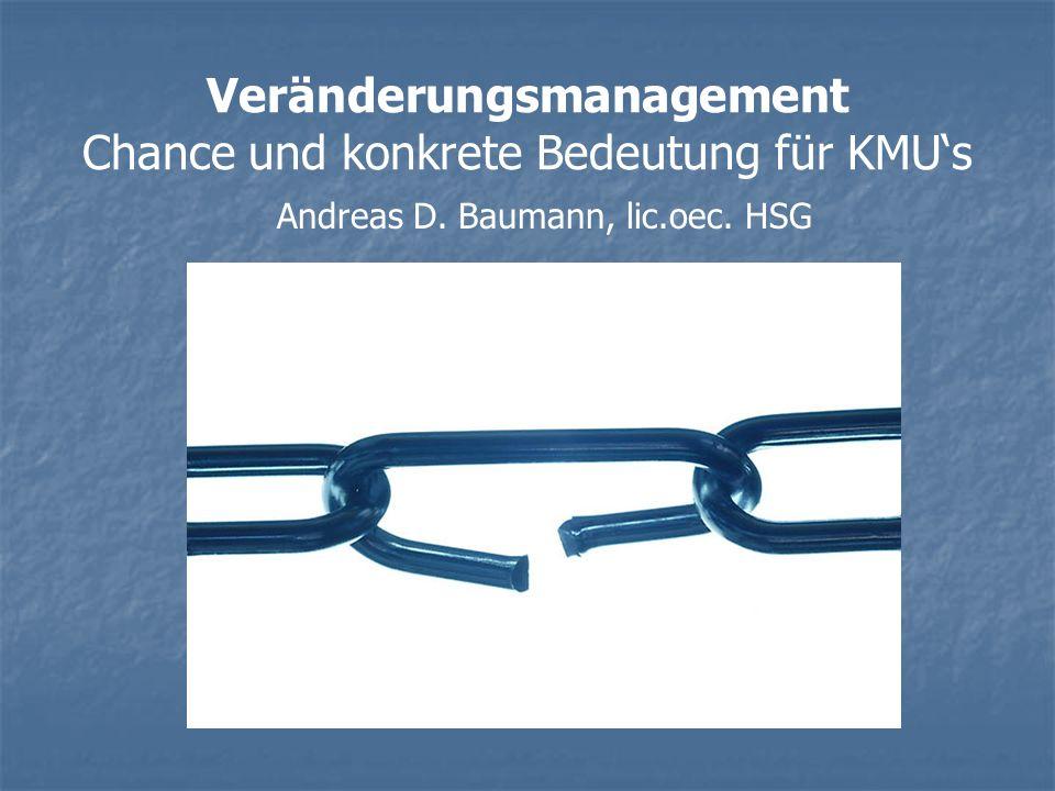 Veränderungsmanagement Chance und konkrete Bedeutung für KMU's