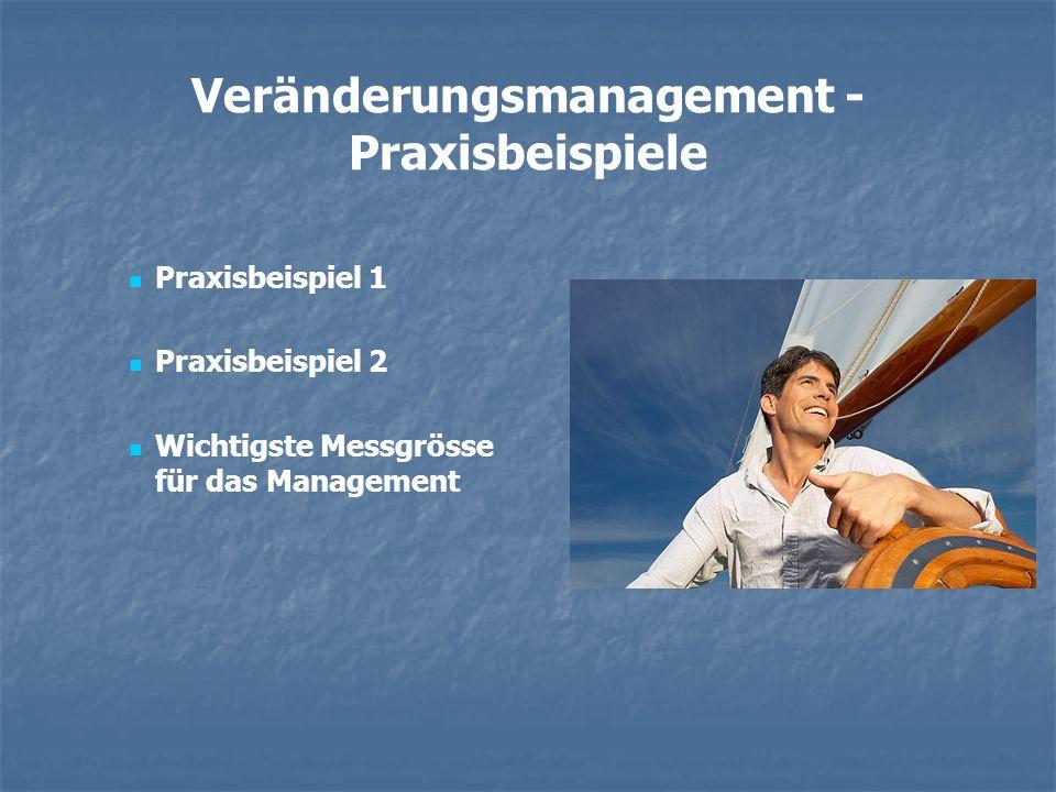 Veränderungsmanagement - Praxisbeispiele