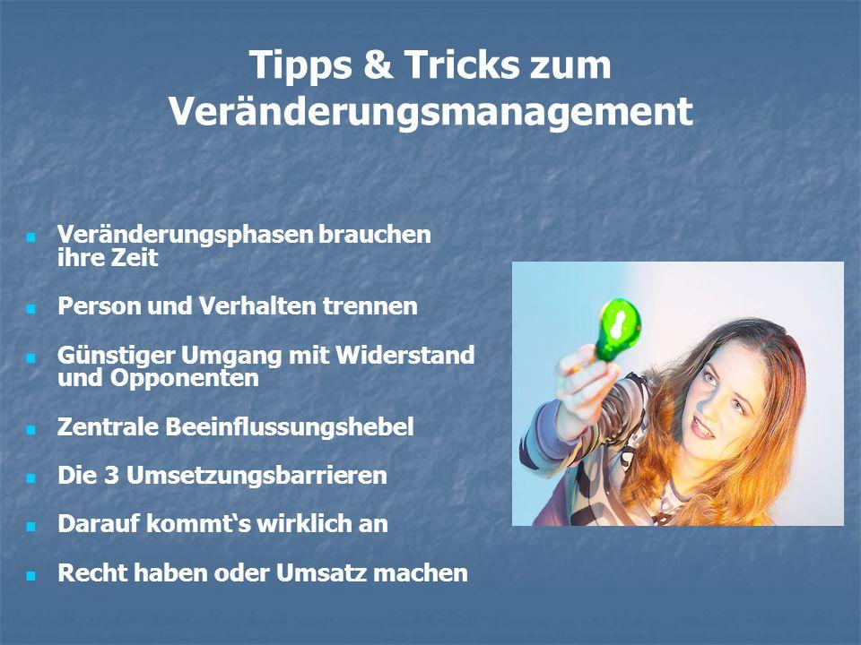 Tipps & Tricks zum Veränderungsmanagement