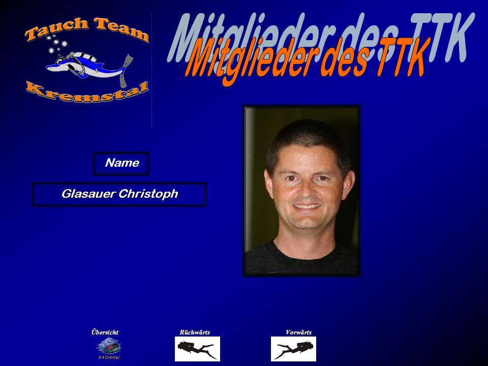 Mitglieder des TTK Name Gnadlinger Johannes Übersicht Rückwärts