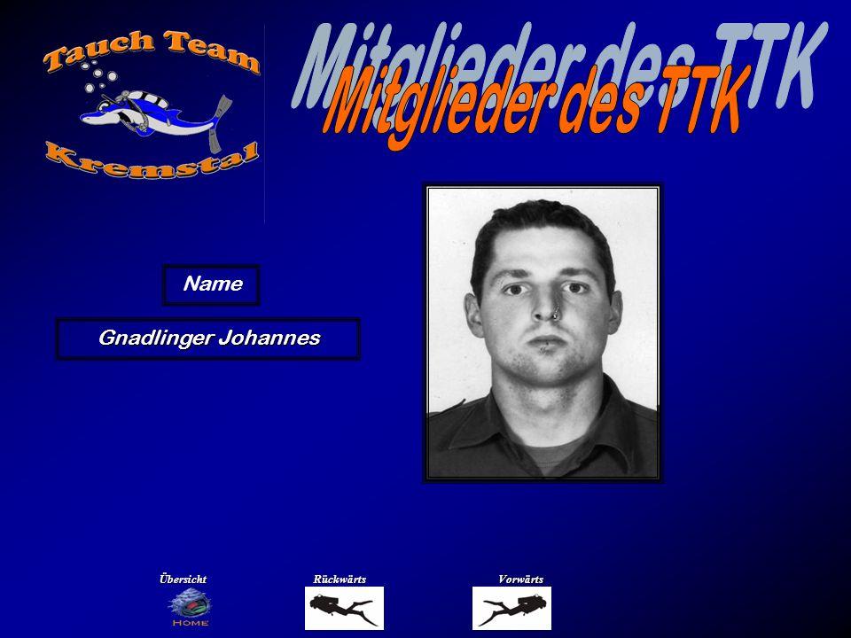 Mitglieder des TTK Name Grogger Sabine Übersicht Rückwärts Vorwärts