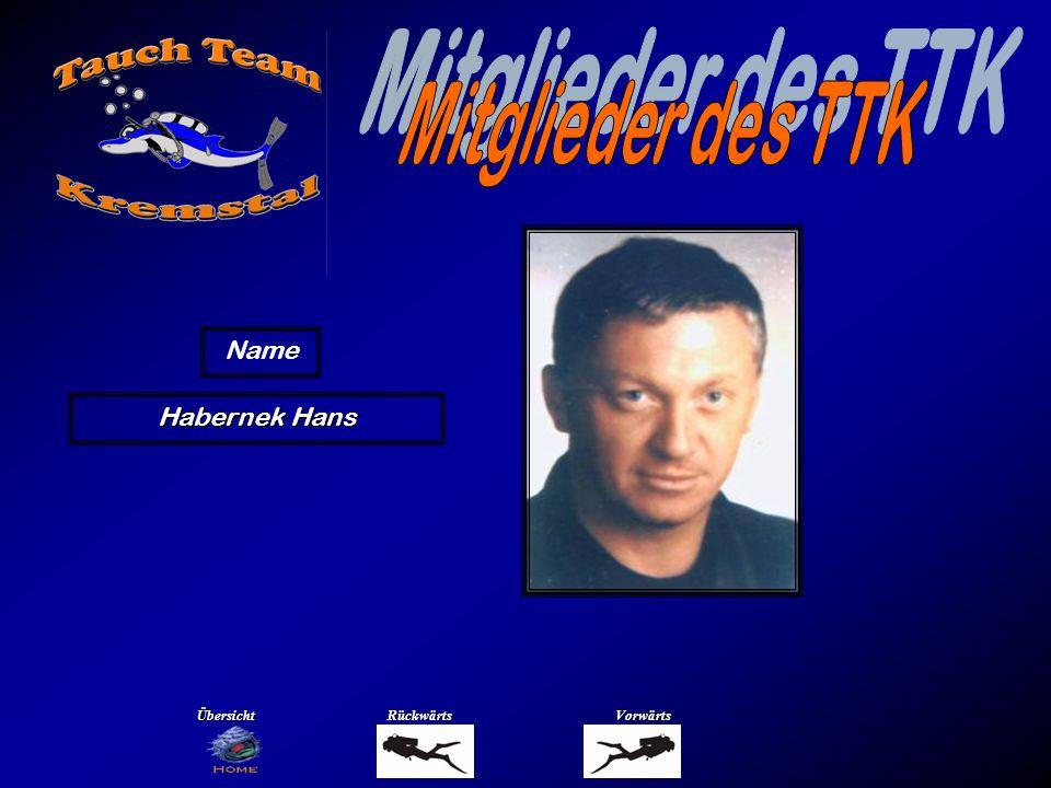 Mitglieder des TTK Name Hasibeder Bernadette Übersicht Rückwärts