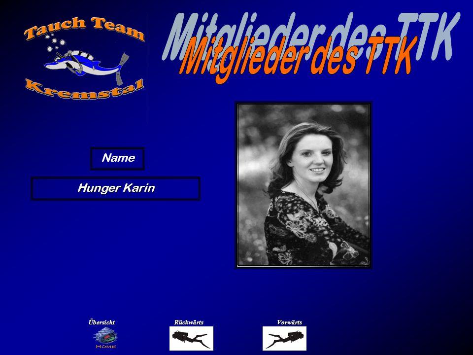 Mitglieder des TTK Name Hüttmann Richard Übersicht Rückwärts Vorwärts