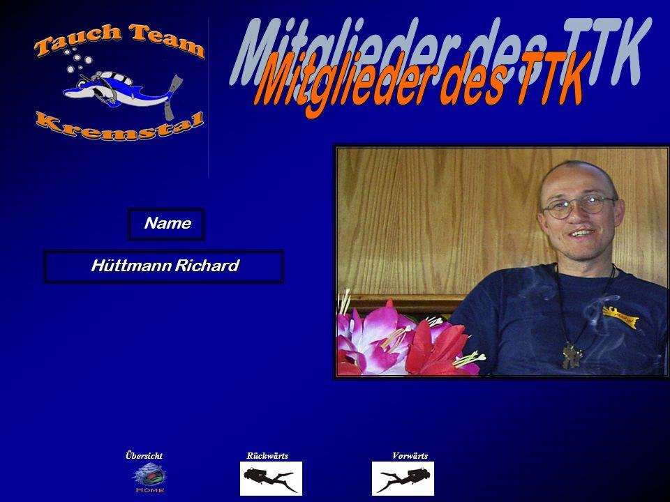 Mitglieder des TTK Name Kirchmeir Franz Übersicht Rückwärts Vorwärts