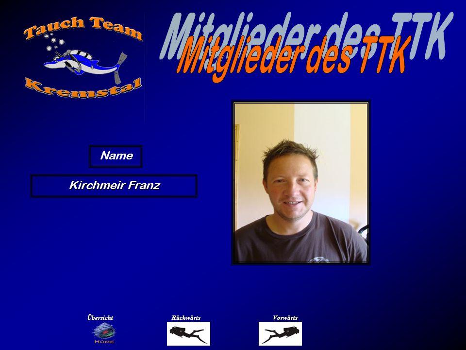 Mitglieder des TTK Name Klement Petra Übersicht Rückwärts Vorwärts