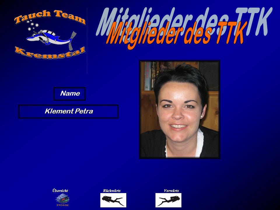 Mitglieder des TTK Name König Daniela Übersicht Rückwärts Vorwärts