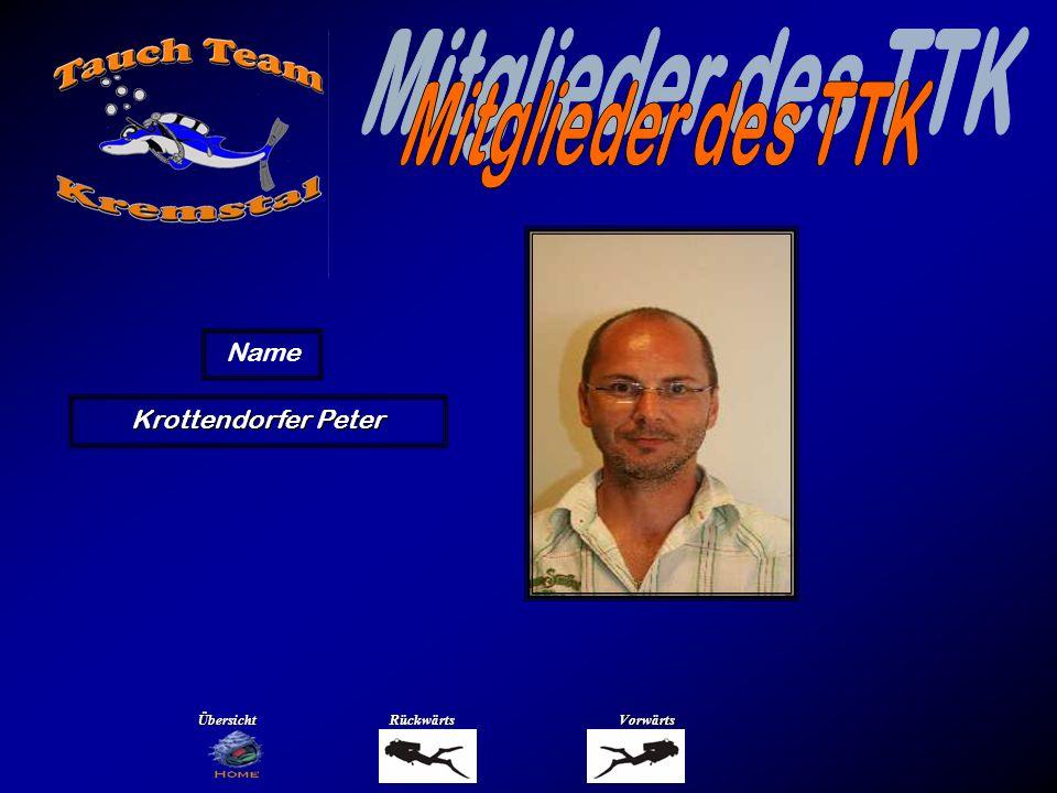 Mitglieder des TTK Name Krusch Josef Übersicht Rückwärts Vorwärts