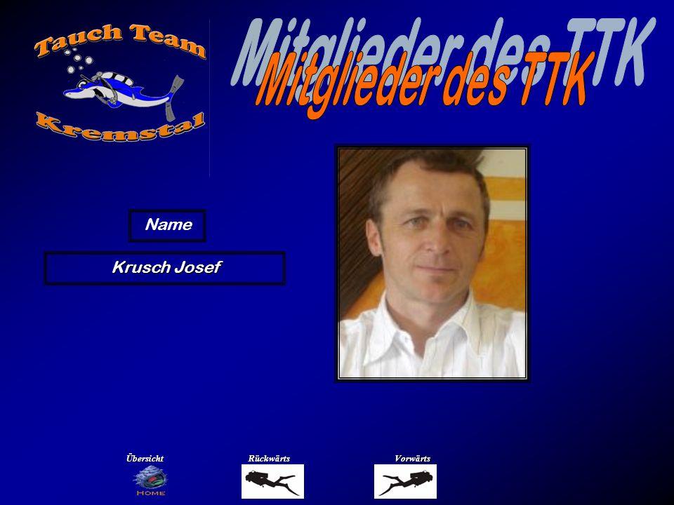 Mitglieder des TTK Name Lehner Helmut Übersicht Rückwärts Vorwärts
