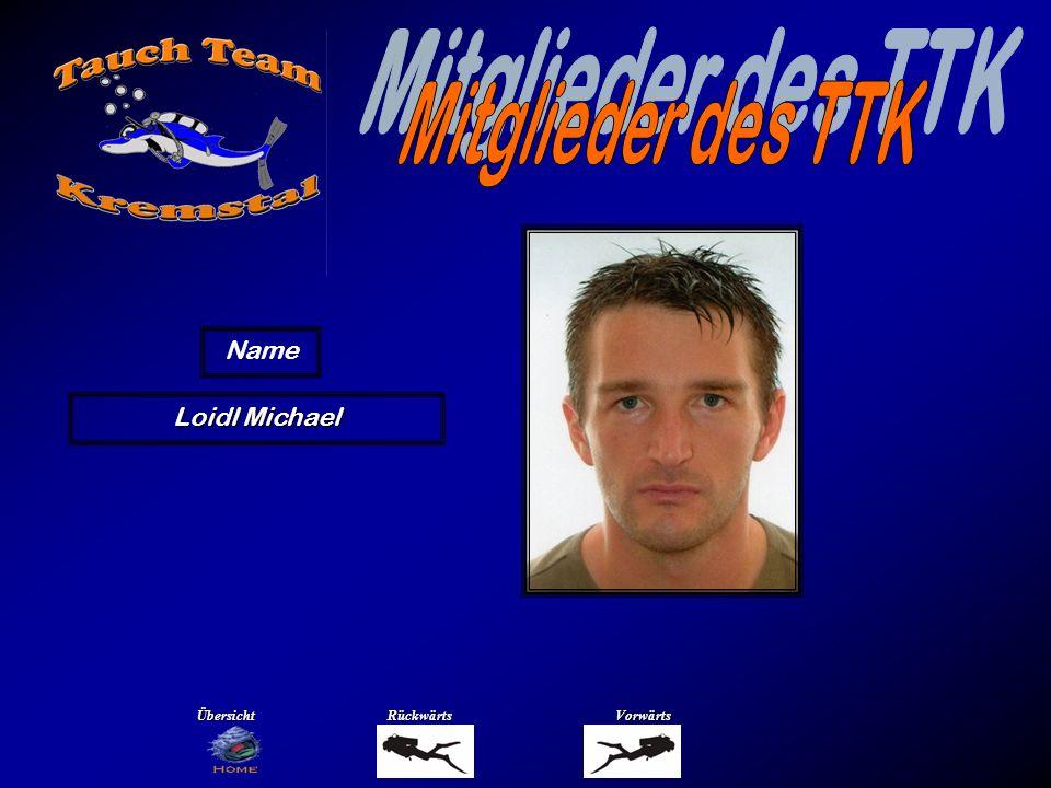 Mitglieder des TTK Name Maurer Ingrid Übersicht Rückwärts Vorwärts