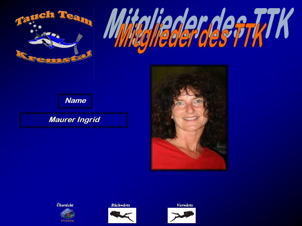 Mitglieder des TTK Name Merkinger Manfred Übersicht Rückwärts Vorwärts