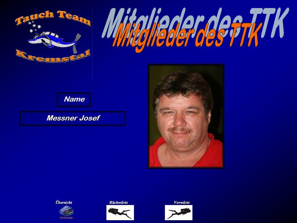 Mitglieder des TTK Name Moser Erich Übersicht Rückwärts Vorwärts